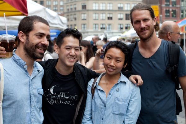 Chef Ignacio, Jeremiah @ Farmers Market NY. Photo: Daniel Dent